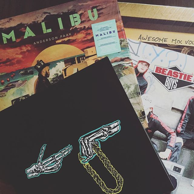Well - no. No time for football, phone calls and stuff. I'm in tha lab chillaxin' #runthejewels #beastieboys #andersonpaak #guardiansofthegalaxy #vinyl #fever #daddysgotnewtoys #tasteinmusic