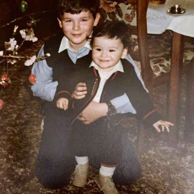 Flashback Wednesday. Me and my big brother. Way more than 30 years ago #memories #family #onelove