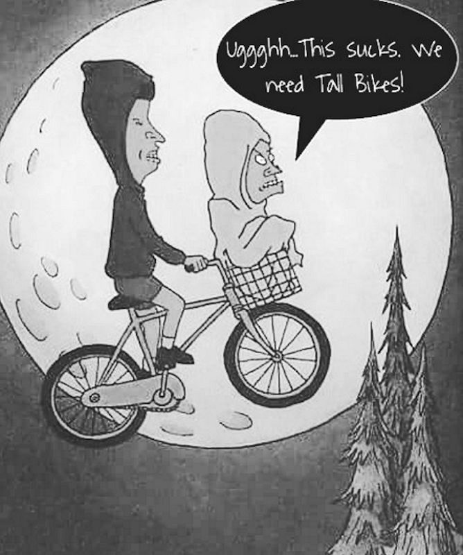 B&B no tall bike.