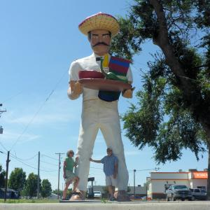 Actor Dennis Hopper's Salsa Man in Dodge City.