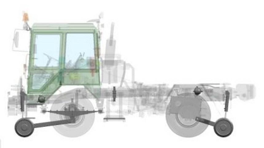 комбинированный железнодорожный ход маневрового модуля