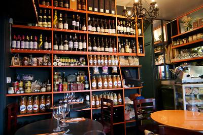 Neighboring wine bar