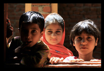 Kids in Srinagar