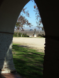 Rustic charm of Mission San Juan Bautista (from Hitchcocks Vertigo)