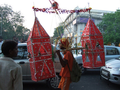 Kavadi-bearer near Connaught Place