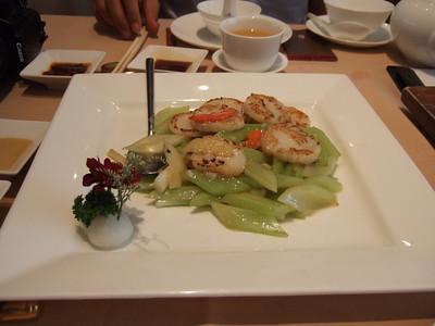 Garlicky scallops at Lei Garden