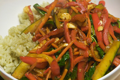 My home cooked thai stir fry