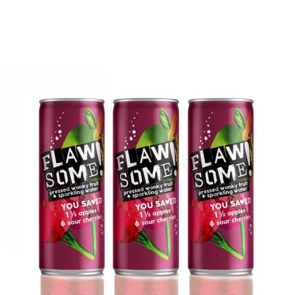 Flawsome - Apple and Sour Cherry - Multi Pack 250ml x 8 - Available on LocoSoco