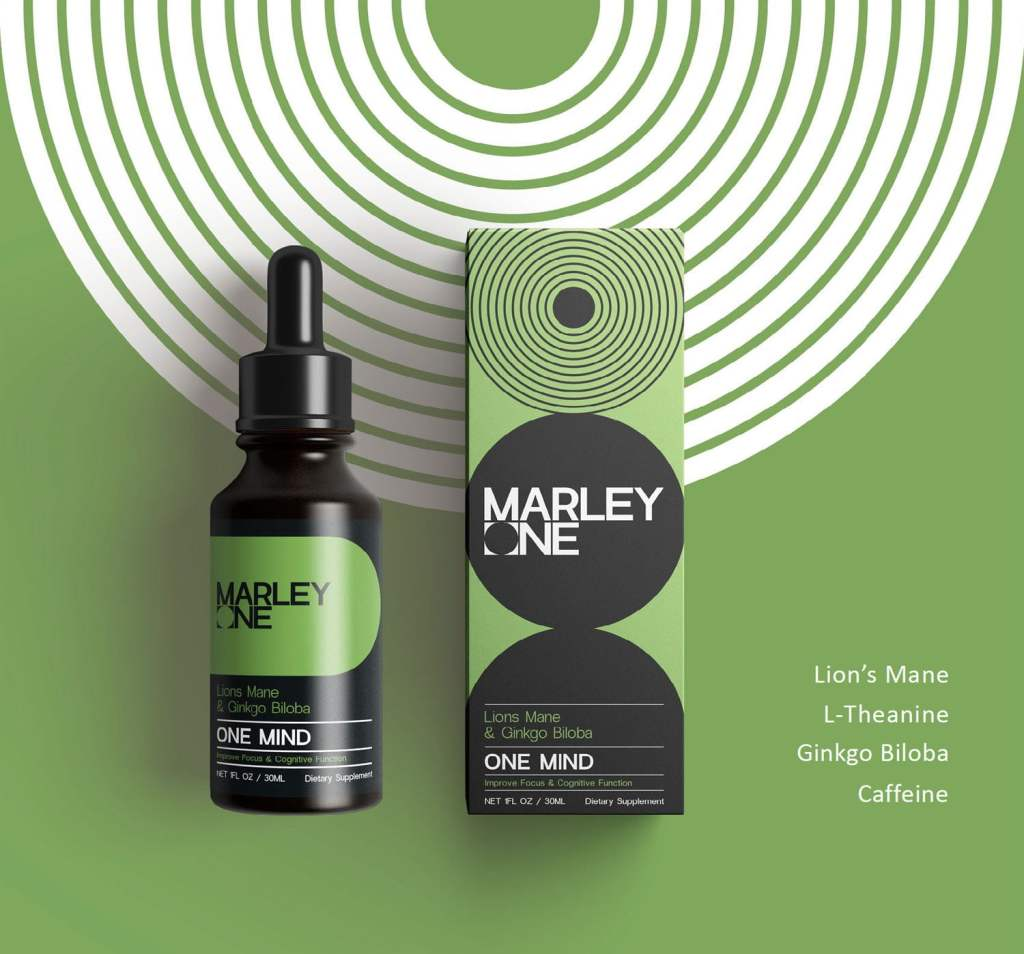 One Mind by Marley One - Available From LocoSoco - Functional Mushroom Tinctures for Mind and Mental Wellbeing