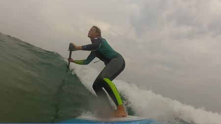 "Tina Beresford tests our new 2015 7'9"" Loco SUP"