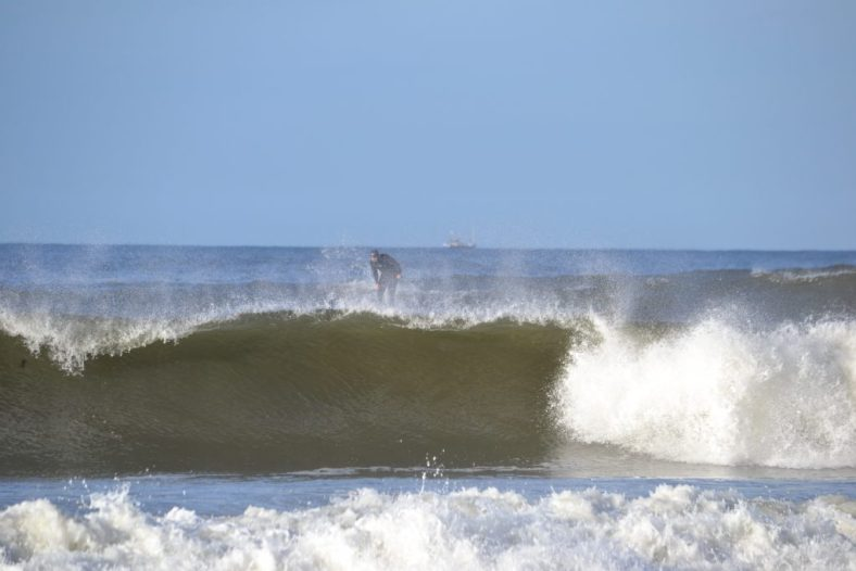 Joe dropping in on Loco Aztex Wave SUP