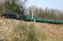 Watercress Line - B3047 approaching Alresford - 45379