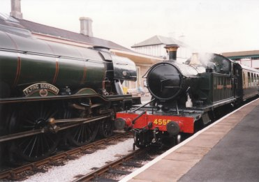 1993 - Churston - GWR Prairie 45xx 4555 and Gresley A3 60103 Flying Scotsman