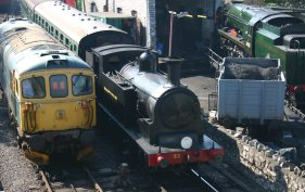 2011 - Swanage (passing Herston Works) - Ex-LSWR M7 class - 53