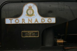 2011 - Eastleigh - A1 class - 60163 Tornado - Cathedrals Express - BR Brunswick Green (name plate)