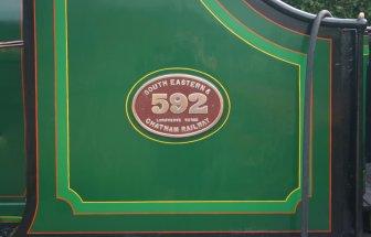 2009 Bluebell Railway - Sheffield Park - SECR C class - 592 (5)