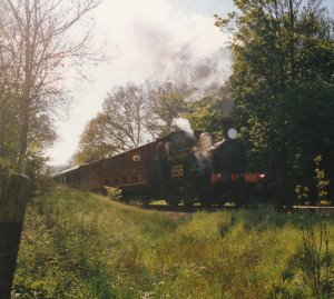 1997 - Kent & East Sussex Railway - Between Rolvenden & Tenterden - P class 1556