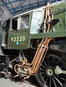 2013 National Railway Museum York - The Great Gathering - BR Standard 9F 92220 Evening Star copper pipework