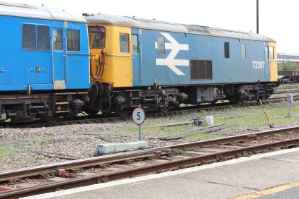 Eastleigh - April 2014 - Class 73 73207 & 73109 (GB Railfreight)