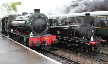 2014 Kent and East Sussex Railway 40th Anniversary Gala Tenterden Town A1X Terrier 32678 Hunslet Austerity 23 Holman F Stephens