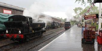 2014 Kent and East Sussex Railway 40th Anniversary Gala Tenterden Town 16xx Pannier Tank BR 1638 A1X Terrier ex-LBSCR 32678