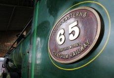 2014 Bluebell Railway - Sheffield Park - South Eastern Railway (SECR) No.65 O1-class 0-6-0 numberplate