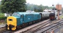 2014 South Devon Railway - Buckfastleigh - BR Class 37 D6975 6975 37275 - London Transport 57xx L.92 pannier tank