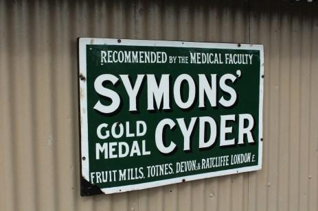 South Devon Railway Totnes Littlehempston July 2015 - Symons Cyder poster