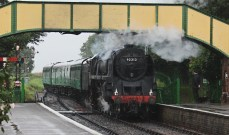280 - Watercress Line Ropley BR Standard class 9F 92212 - 26th August 2015