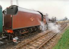Watercress Line Mid Hants Railway 1990s (5) Ropley LMS Princess Coronation Class 6229 Duchess of Hamilton
