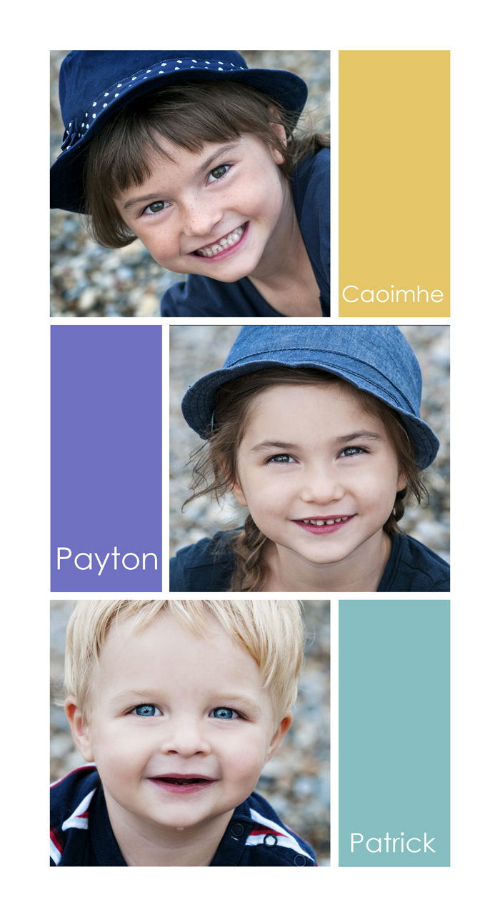 Layout of kids with their names