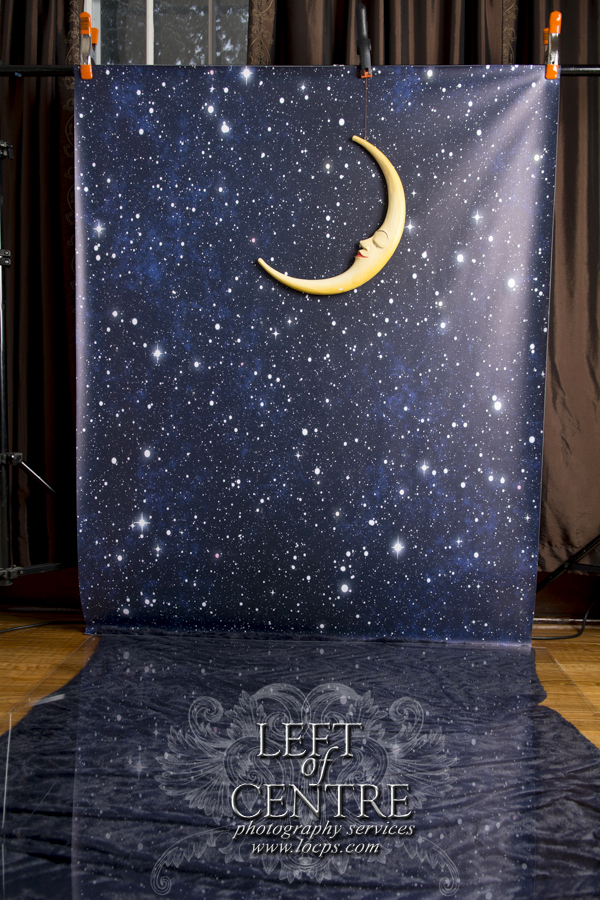 Star Background with Moon