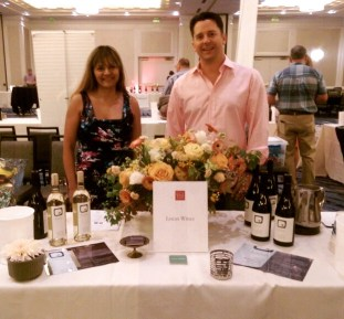 Shama and Rich pouring the wines