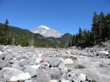 The Nisqually River flowing from Rainier