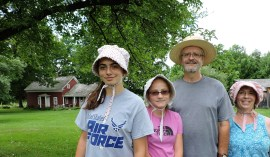 "Alan,me, and the granddaughters embracing our ""inner pioneers"""