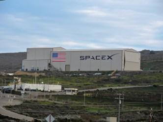 The SpaceX complex on south base