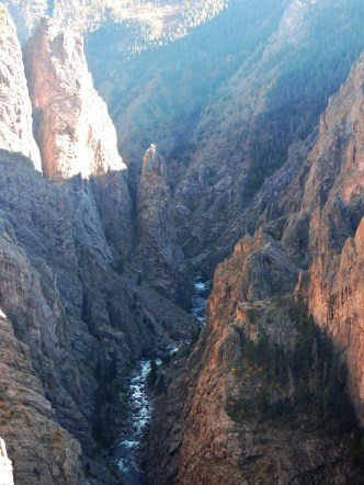 The Gunnison River as it winds its way through the canyon