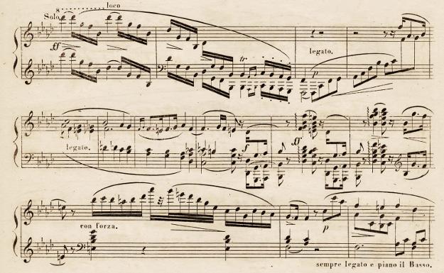 Chopin, Concerto No. 2, Breitkopf & Härtel 1836