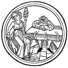Melencolicus, Calendar, Augsburg ca 1480