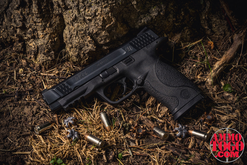 A picture of a smith & wesson M&P pistol chambered in .45