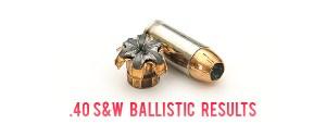 .40S&W Ballistic Test Results
