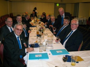 Brethren from 5 Point Circle at the Festive Board