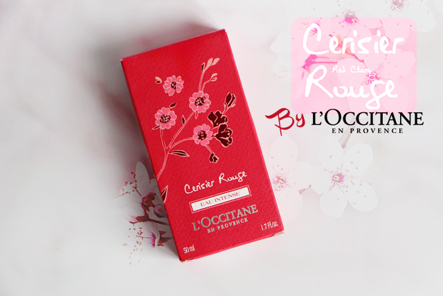 La nouvelle Eau Intense Cerisier Rouge par l'Occitane