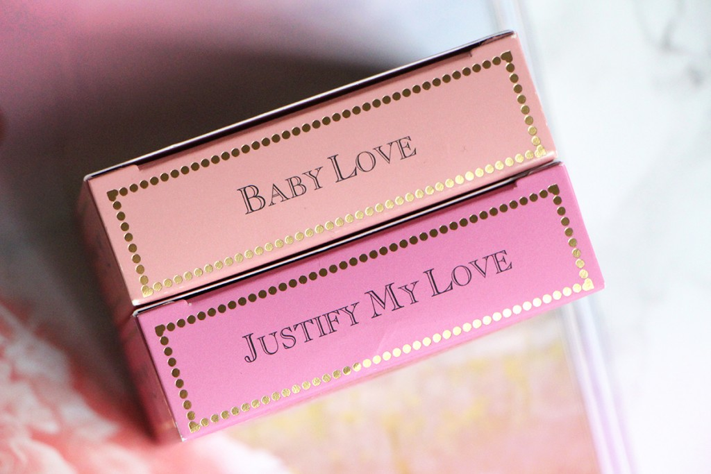 baby love justify my love love flush too faced