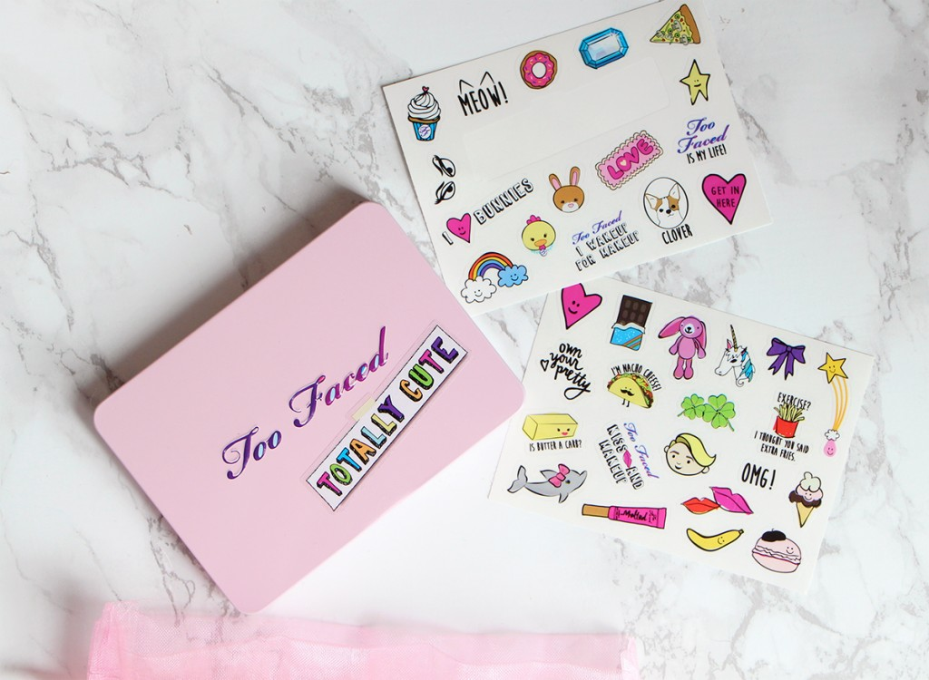 too faced totally cute palette stickers