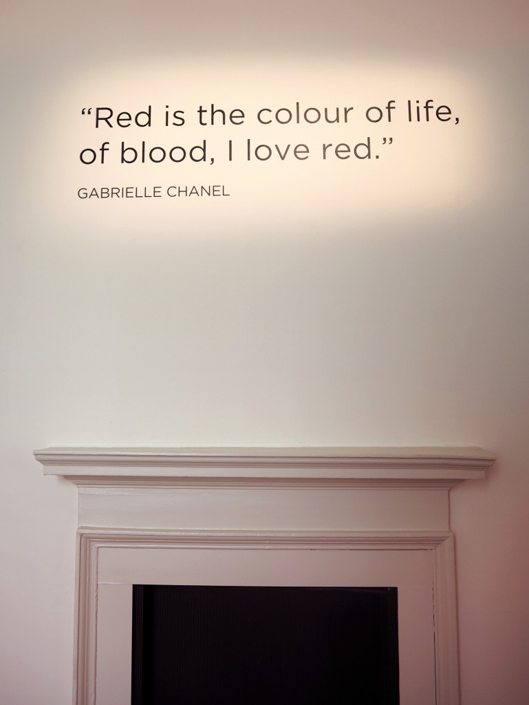 red is the colour of life chanel