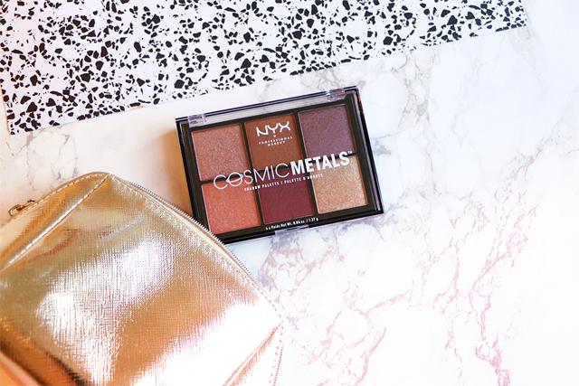 La palette Cosmic Metals de NYX pour un maquillage métallique!