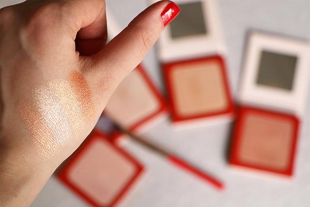 Les (superbes) highlighters de la collection Denude de Nabla Cosmetics