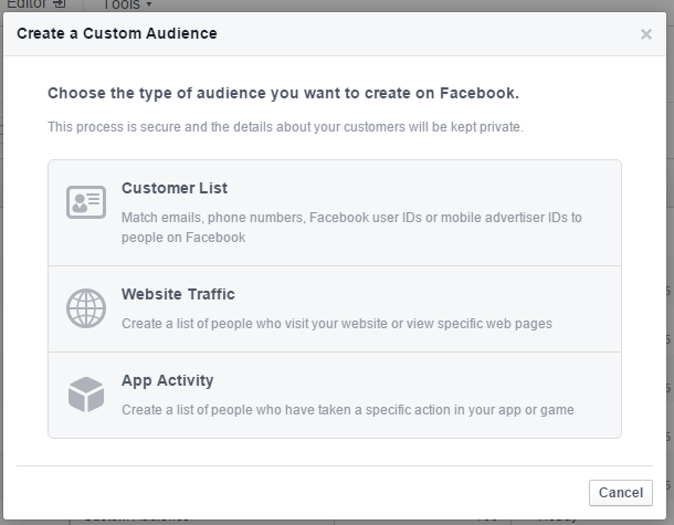 facebook type of audience