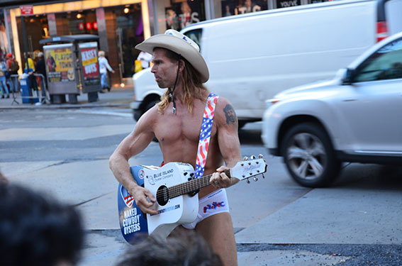 New York Times Square Naked Cowboy